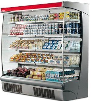 1017mm Wide Open Display Fridge