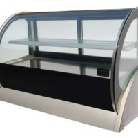 115 Litre Curved Glass Counter Fridge