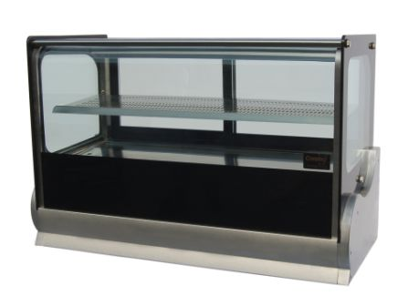 140 Litre Square Glass Counter Fridge