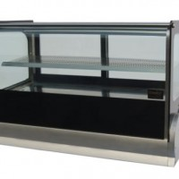 190 Litre Square Glass Counter Fridge
