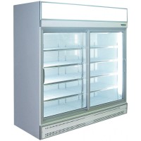 2 Sliding Door Meat Display Fridge 1.8m White Finish
