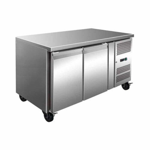 2 Solid Door Underbench Stainless Steel Storage Freezer – 1360mm Wide