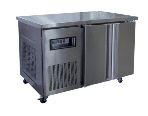 2 Solid Door Underbench Stainless Steel Storage Fridge - 1200mm wide