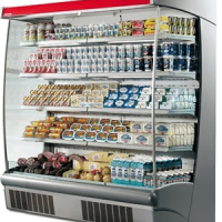 2580mm Wide Open Display Fridge