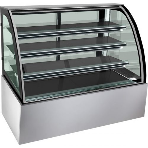 4 level curved glass cake fridge