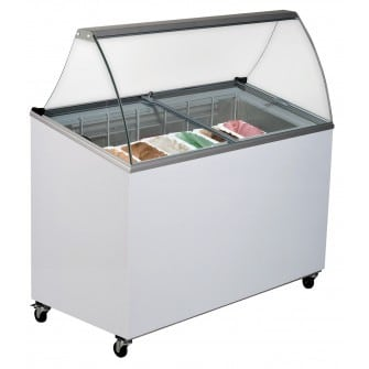 7 x 5 Litre Display Gelato Freezer