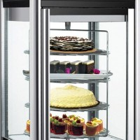 Rotating Countertop Display Fridge