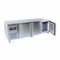 Triple Solid Door Bakers Underbench Combination Fridge / Freezer