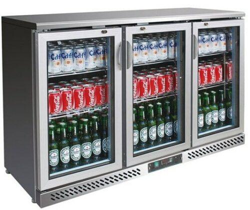3 Glass Door Drinks Bar Fridge Stainless Steel Exterior Ian Boer