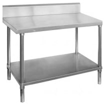 Stainless Steel Benches With Splashback