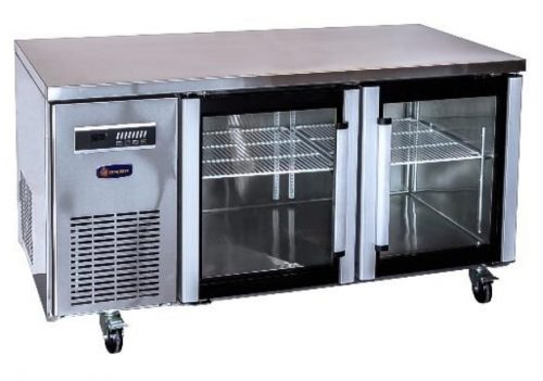 2100mm 3 Glass Door Underbench Commercial Refrigerator